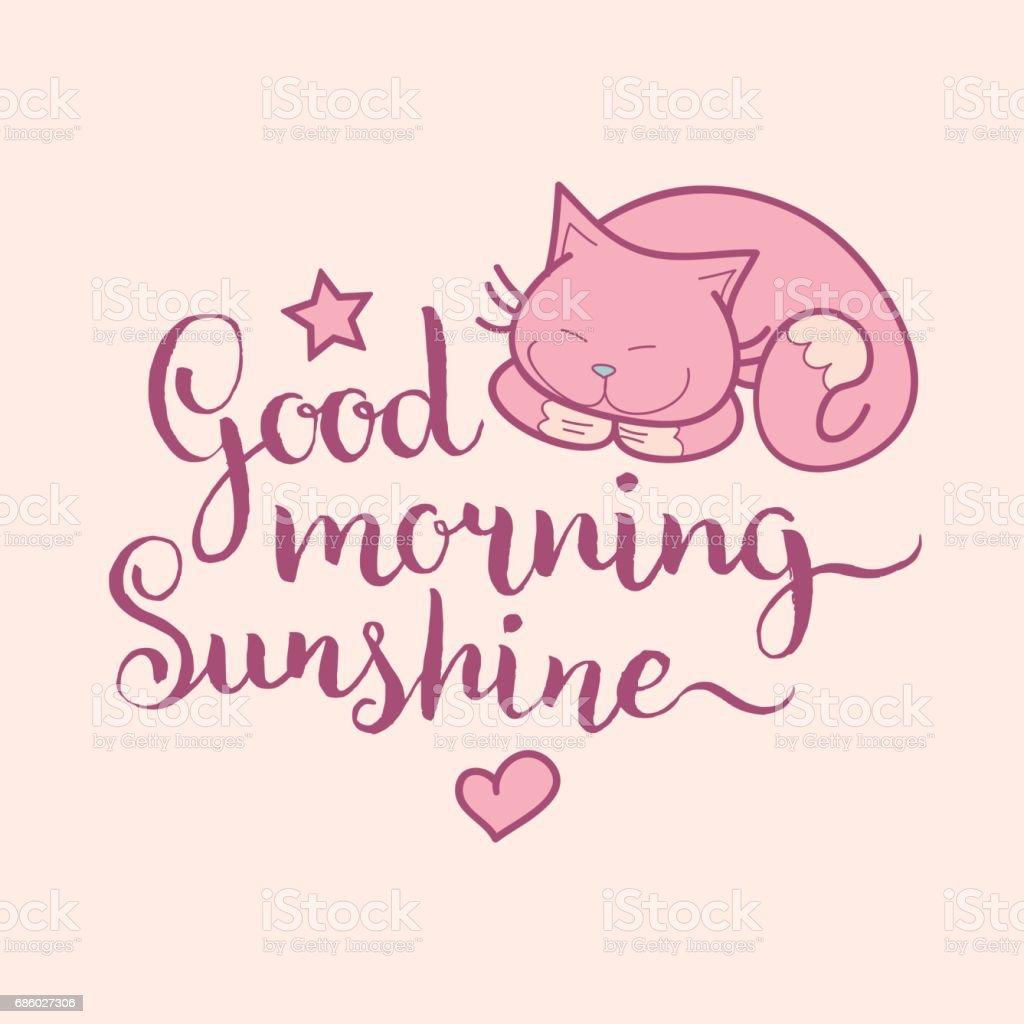 Guten Morgen Sonnenschein Hand Schriftzug Niedliche