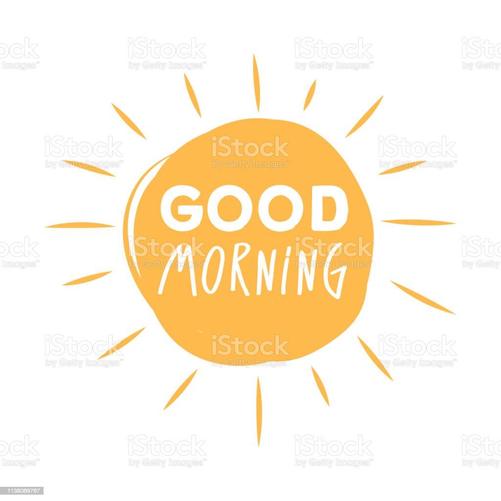 Guten Morgen Sonnenschein Symbol Mit Guten Morgen Schriftzug