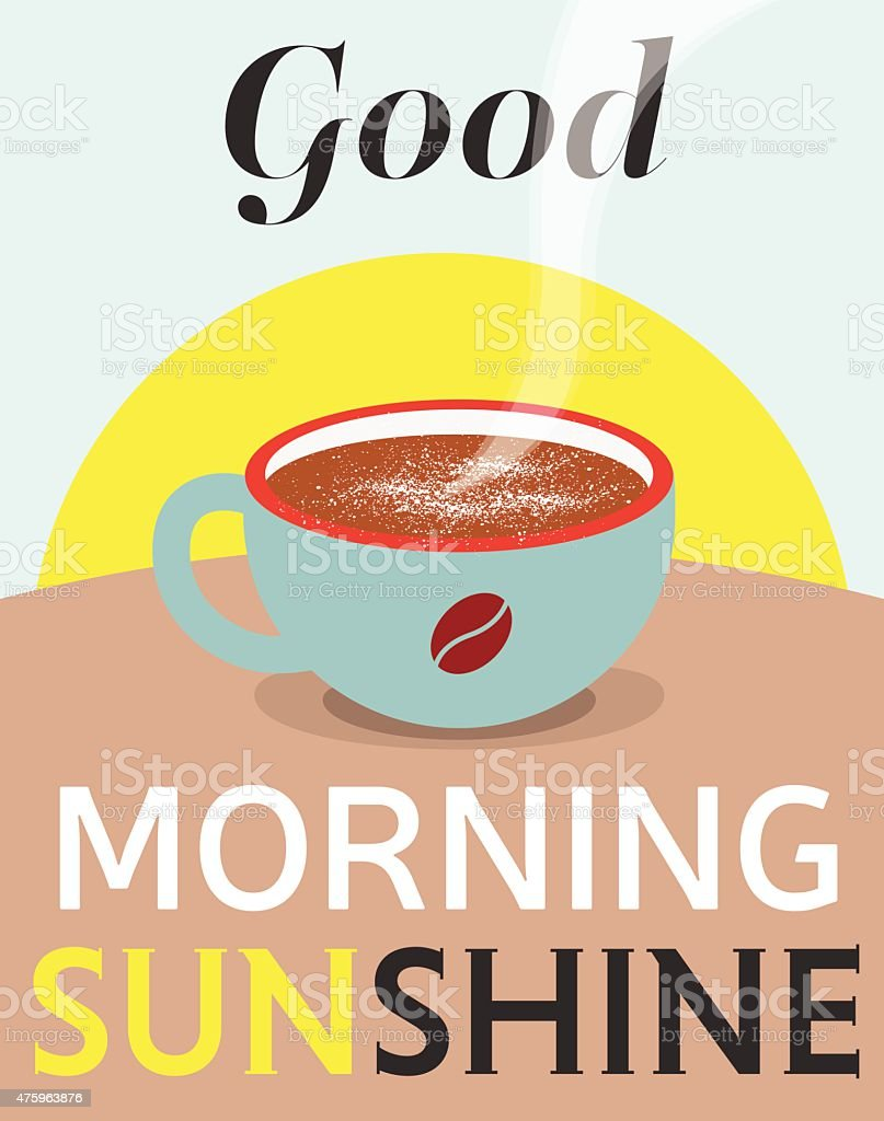 good morning sunshine vector poster stock vector art more images rh istockphoto com vector postcard vector posters sport basketball