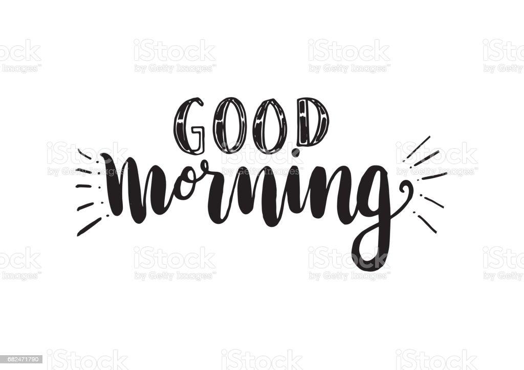 Good Morning good morning — стоковая векторная графика и другие изображения на тему Бессмысленный рисунок Стоковая фотография