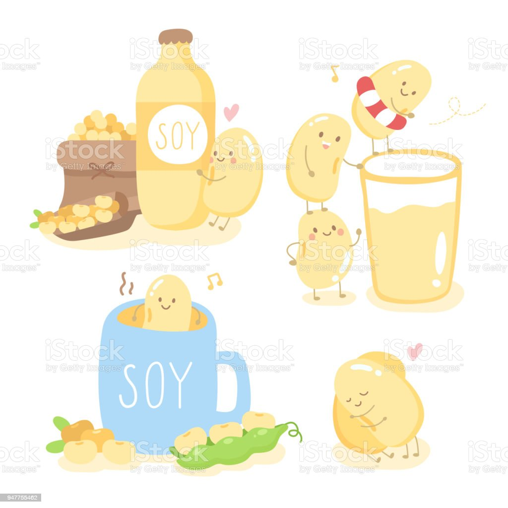 Good Morning With Cute Soy And Friend Stock Vector Art More Images