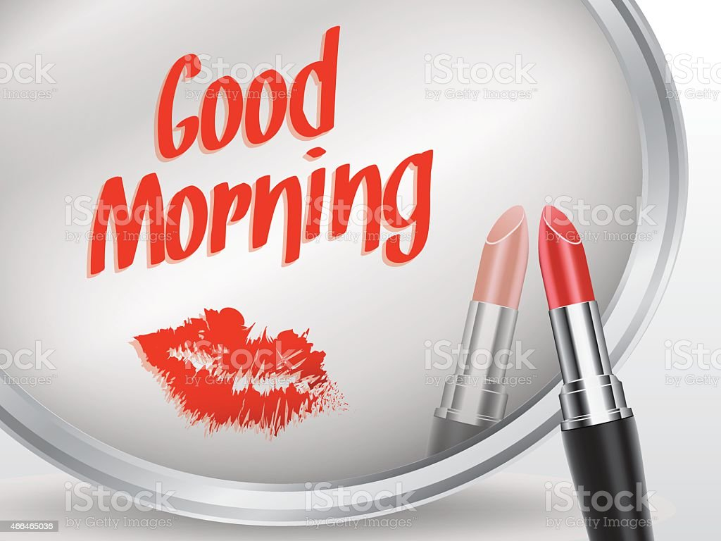 Good morning written on mirror by lipstick vector stock vector art good morning written on mirror by lipstick vector royalty free good morning written on colourmoves