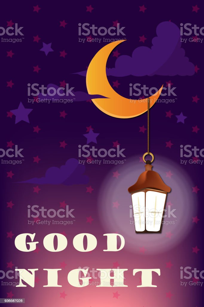 Good Night And Sweet Dreams Illustration Vector Design Stock Vector