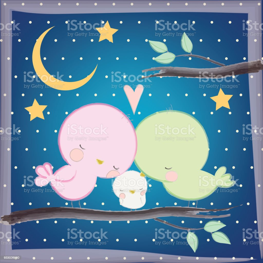 Good Night And Sweet Dreams Vector Illustration Design Stock Vector