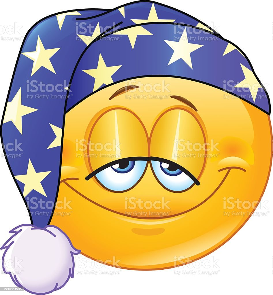 Good Night Emoticon Stock Vector Art & More Images Of