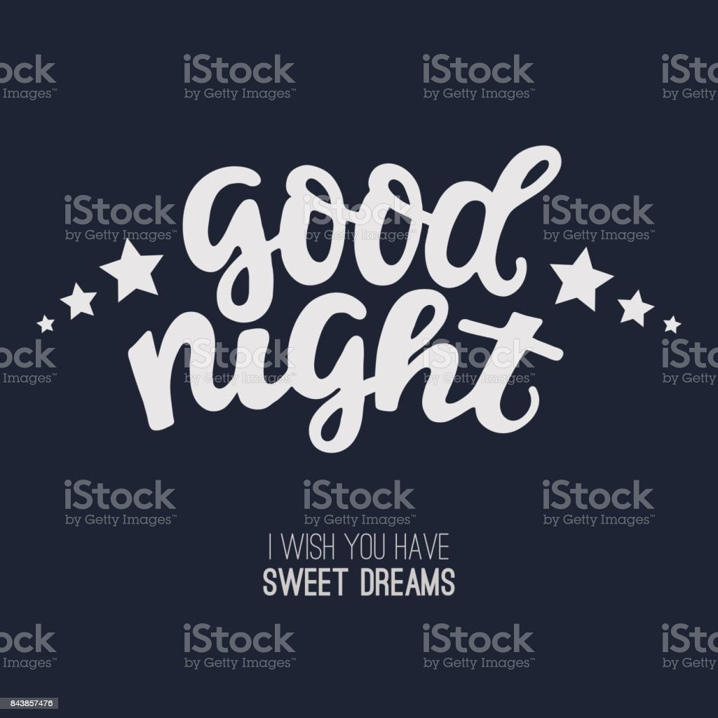 Good Night Greeting Card Stock Vector Art More Images Of Abstract