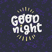 Good Night hand lettering saying