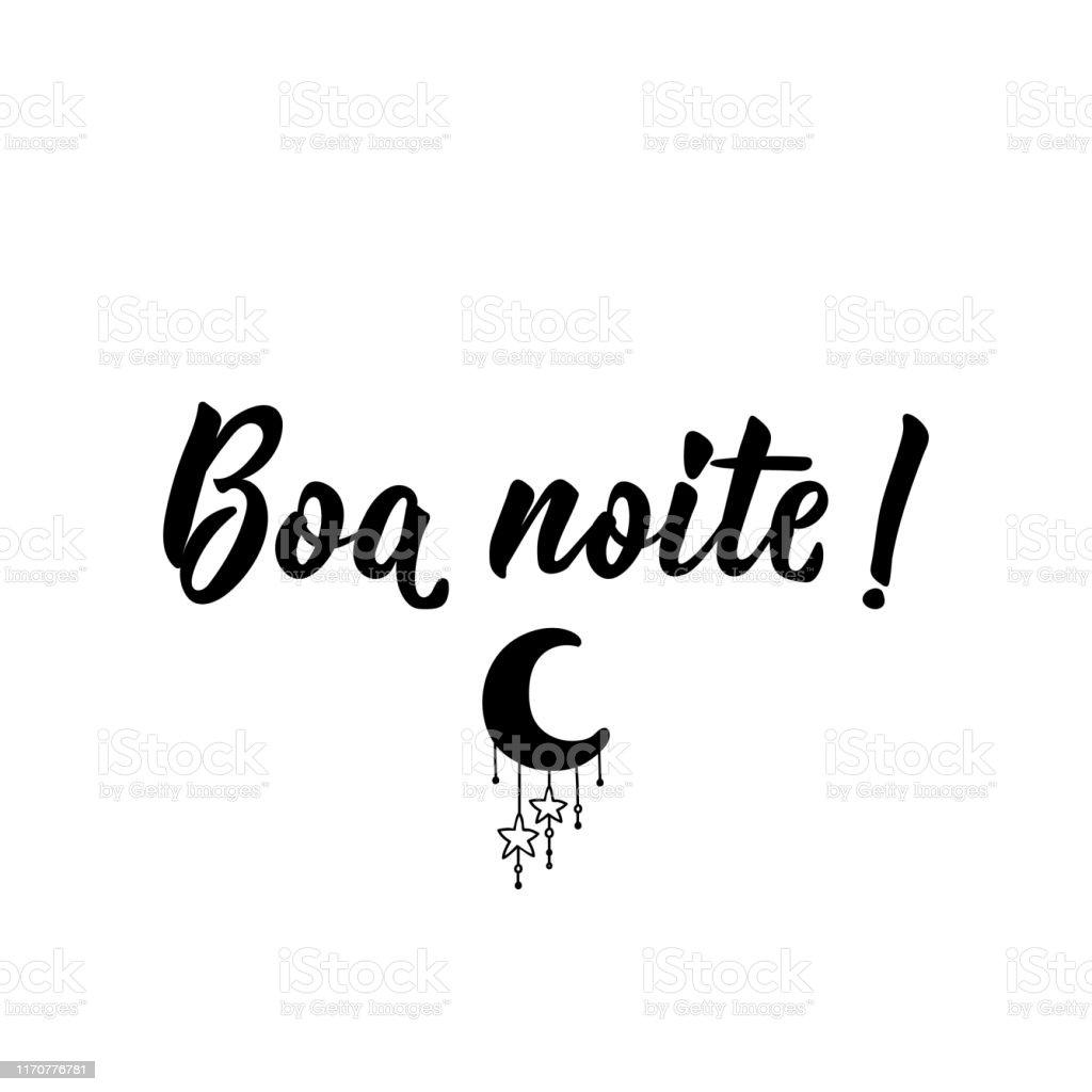 Gute Nacht Auf Portugiesisch Tintenabbildung Mit
