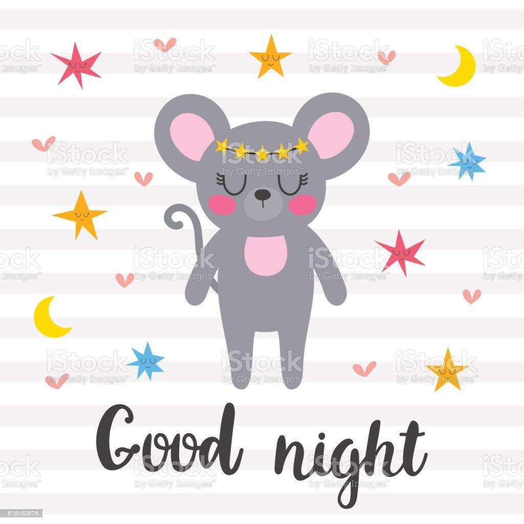 Gute Nacht Inspirierende Angebot Handgezeichnete Schriftzug