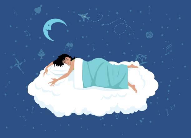 Good night sleep vector art illustration