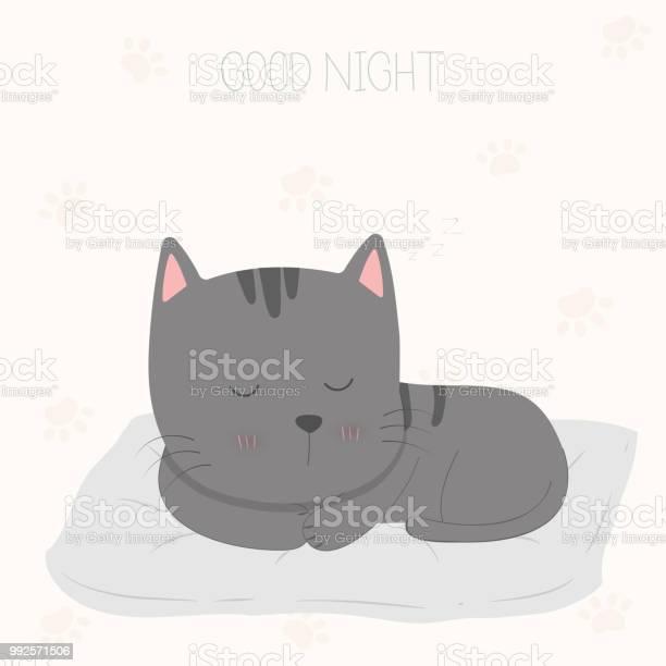 Good night sleeping cat vector id992571506?b=1&k=6&m=992571506&s=612x612&h=yqteb3uj77qzrkyxgctkaw85pg6jek ubrb75p 1q m=