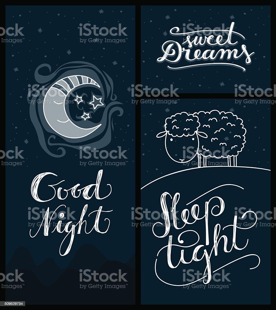 Una Buona Notte Di Sonno Dolce Sogni Stretto Banner Immagini