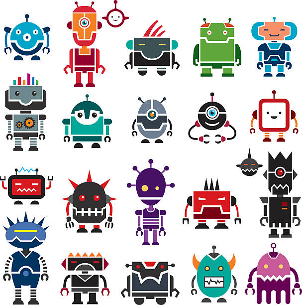 good robots and bad robots - robotics stock illustrations, clip art, cartoons, & icons