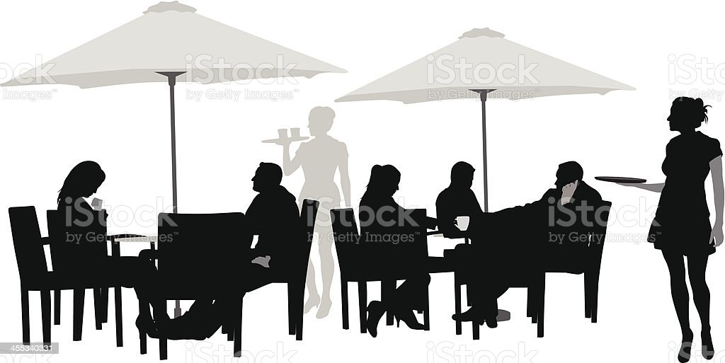 Good Service Vector Silhouette royalty-free stock vector art
