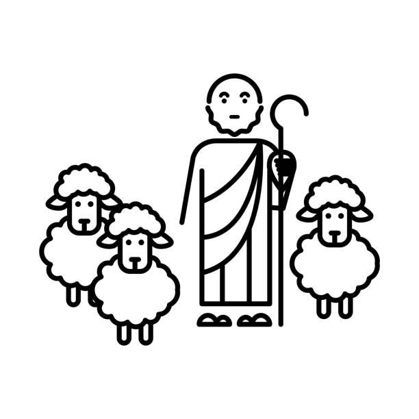 Best Shepherd Illustrations, Royalty-Free Vector Graphics