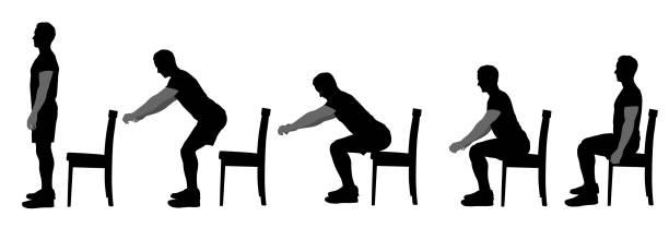 good sitting form - siedzieć stock illustrations