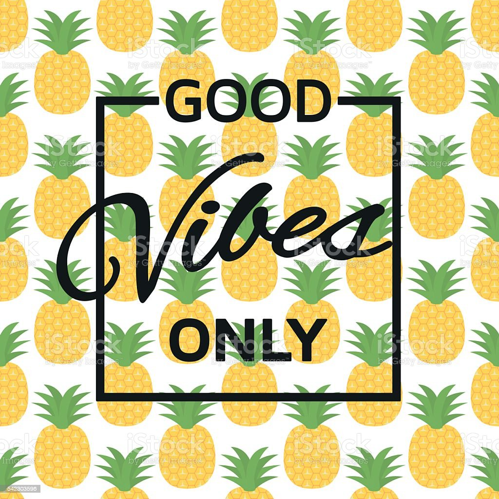 Good vibes only background vector art illustration