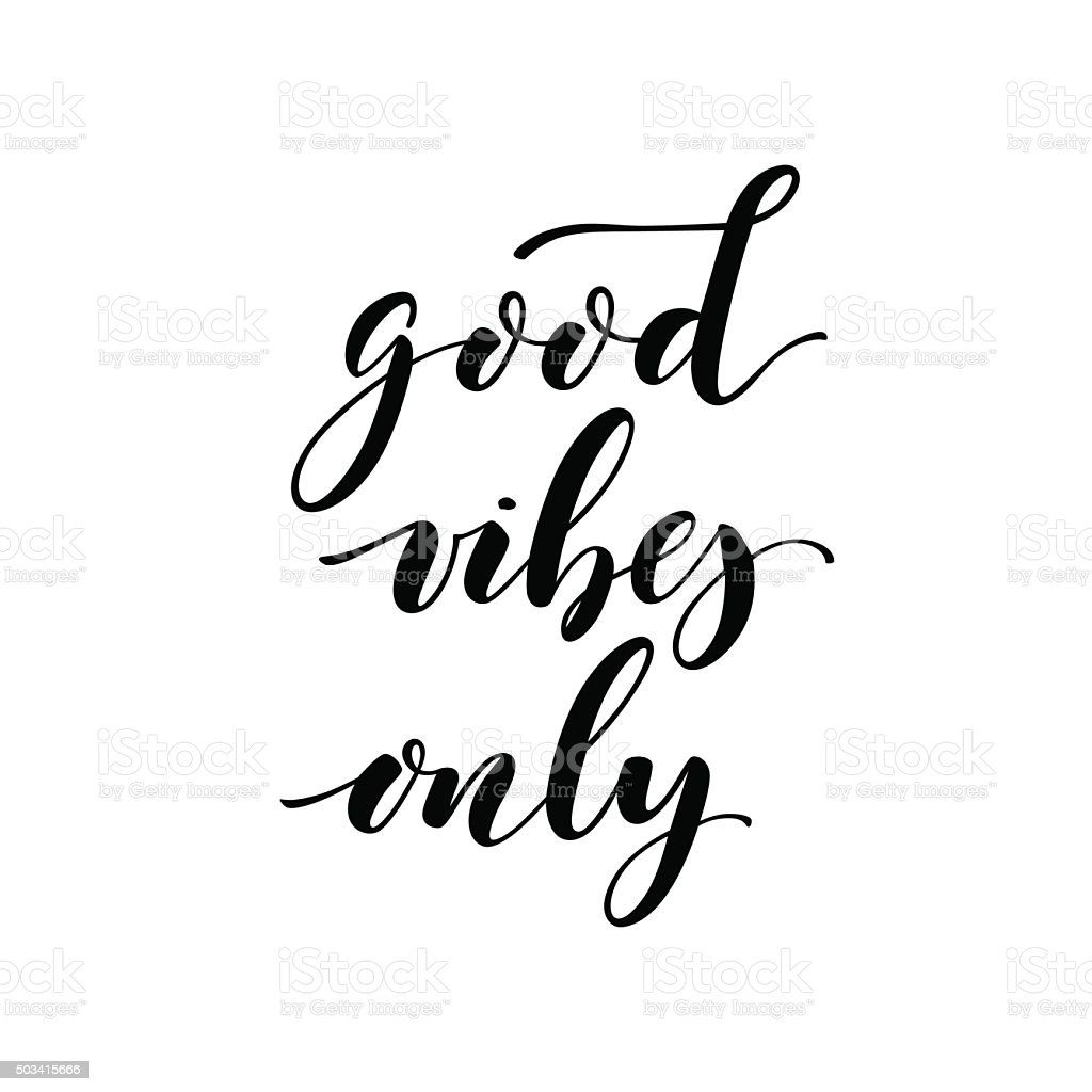 Good vibes only card. vector art illustration