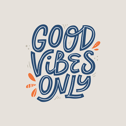 Good vibes only scandinavian style vector lettering