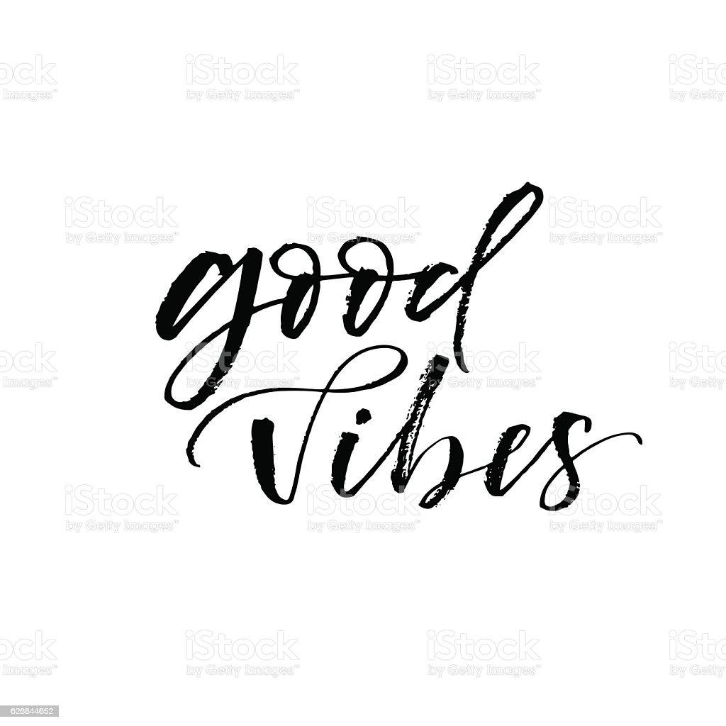 Good vibes postcard. vector art illustration
