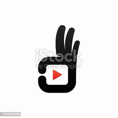 istock Good video logo template design 1323452206