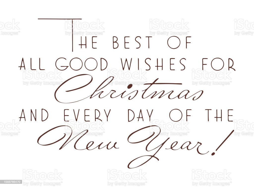 Good Wishes For Christmas And New Year Stock Vector Art & More ...