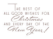 Good Wishes For Christmas and New Year