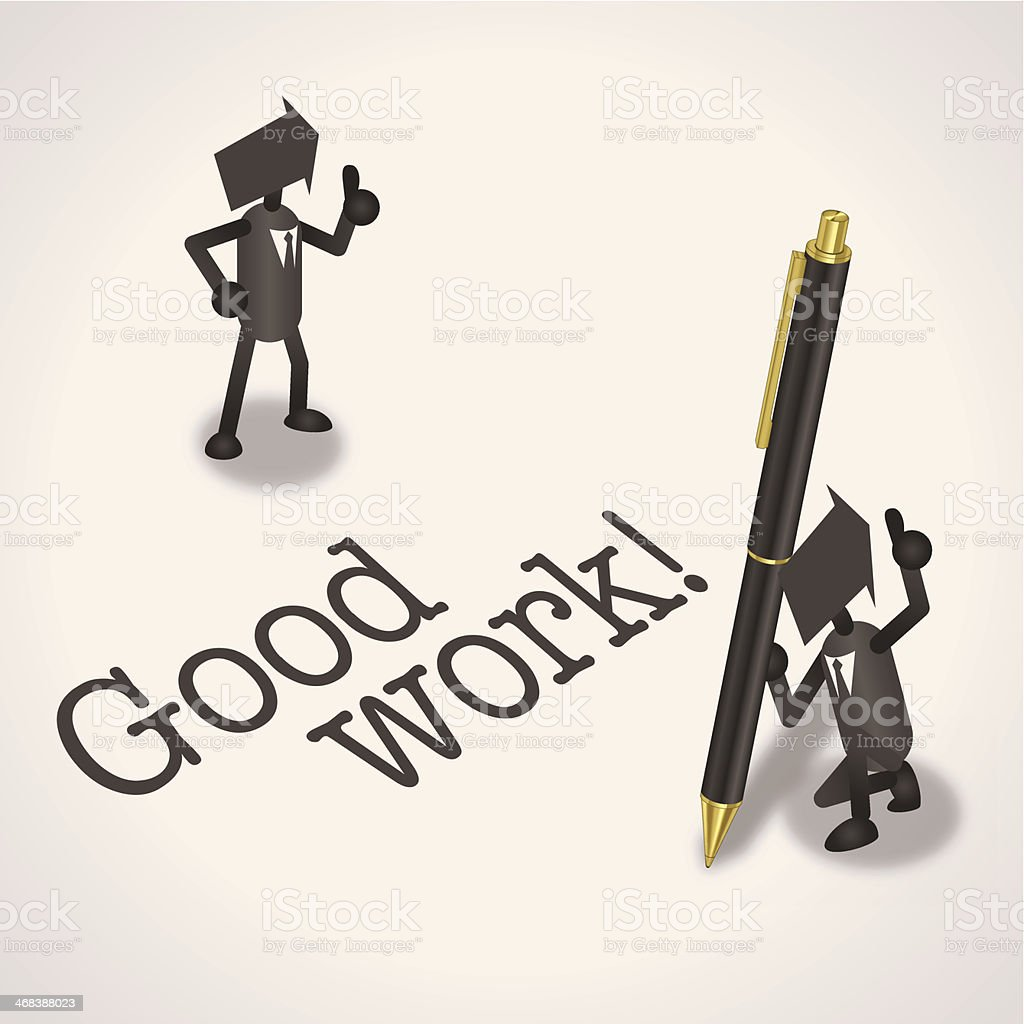 Good work! royalty-free good work stock vector art & more images of achievement