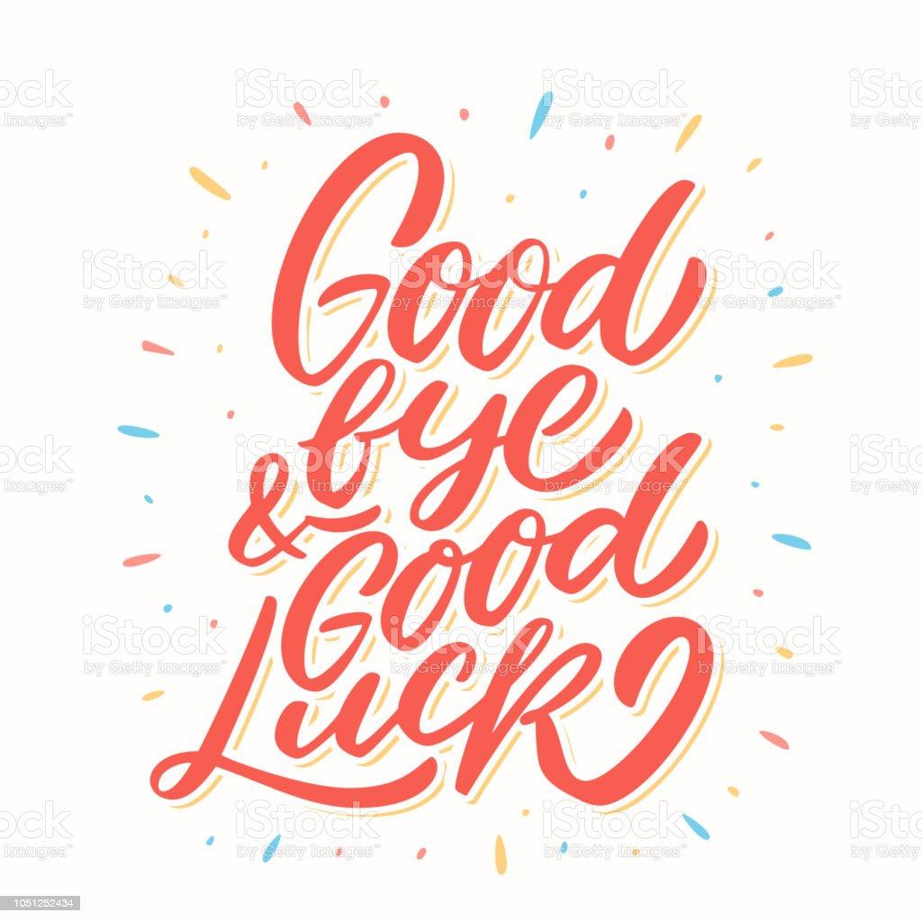 Goodbye And Good Luck Farewell Card Stock Illustration