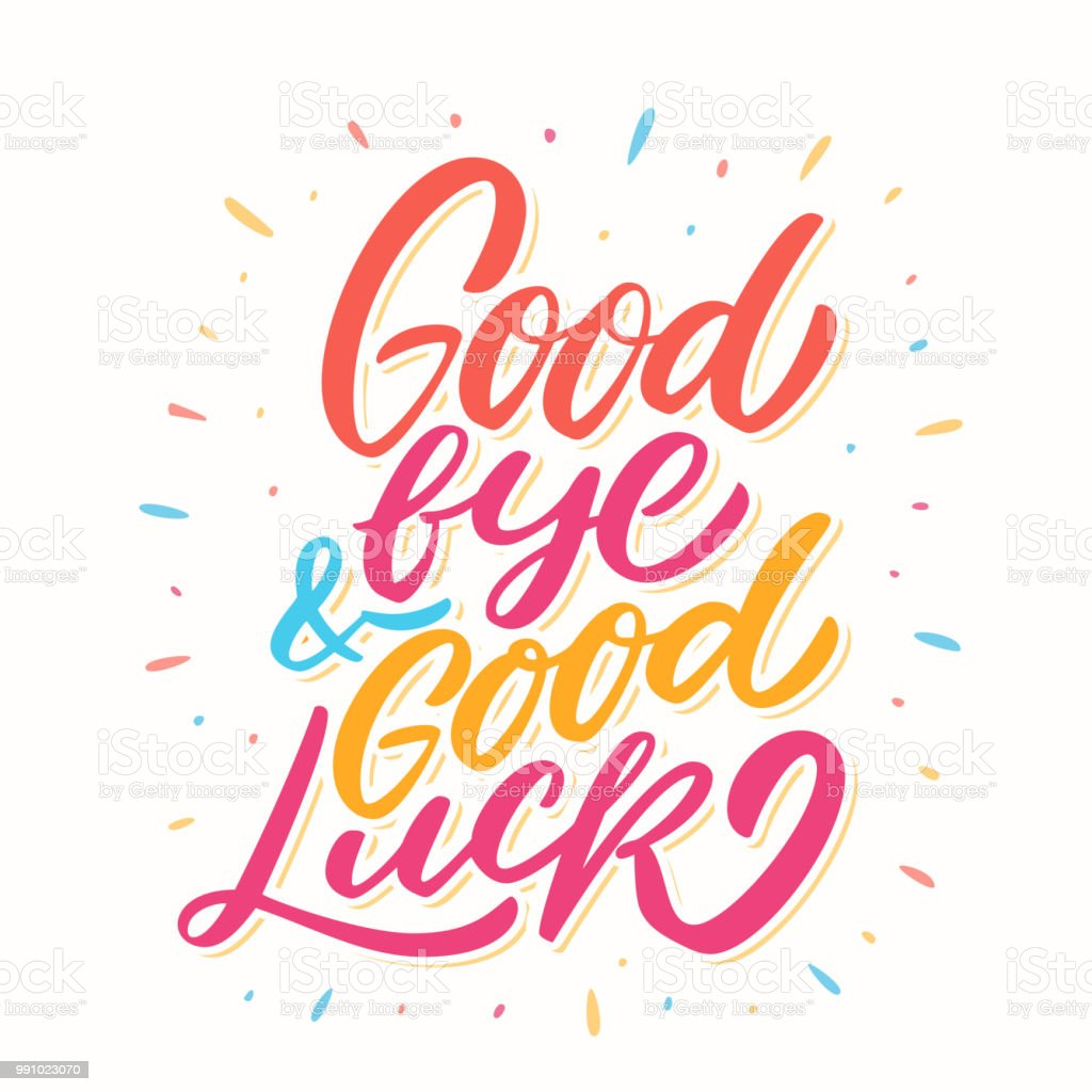 Goodbye And Good Luck Farewell Card Stock Vector Art More Images