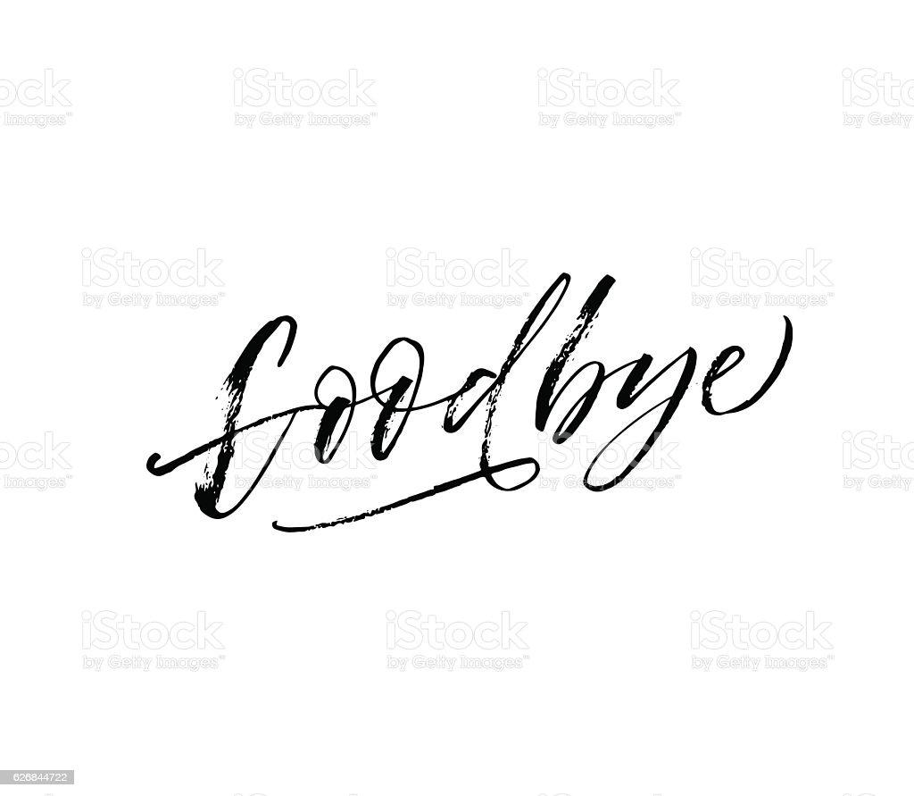 Goodbye hand drawn lettering. - ilustración de arte vectorial