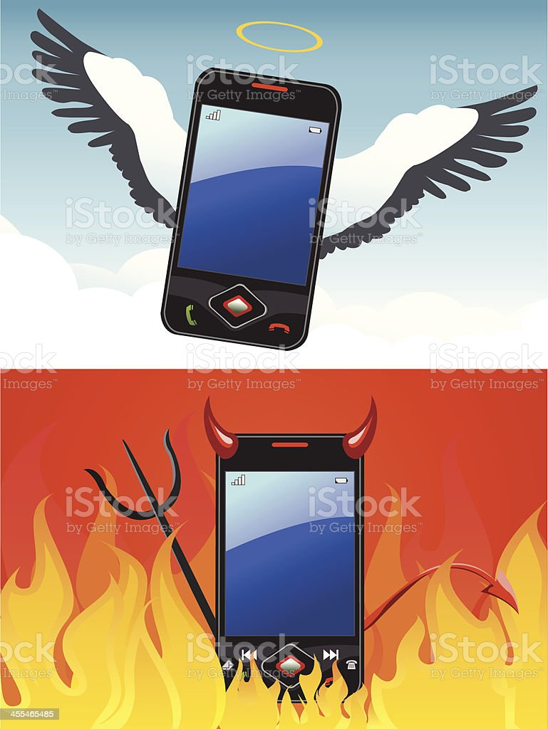 Good/Evil mobile royalty-free goodevil mobile stock vector art & more images of angel