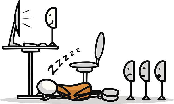 illustrations, cliparts, dessins animés et icônes de bonne nuit - emoji paresseux