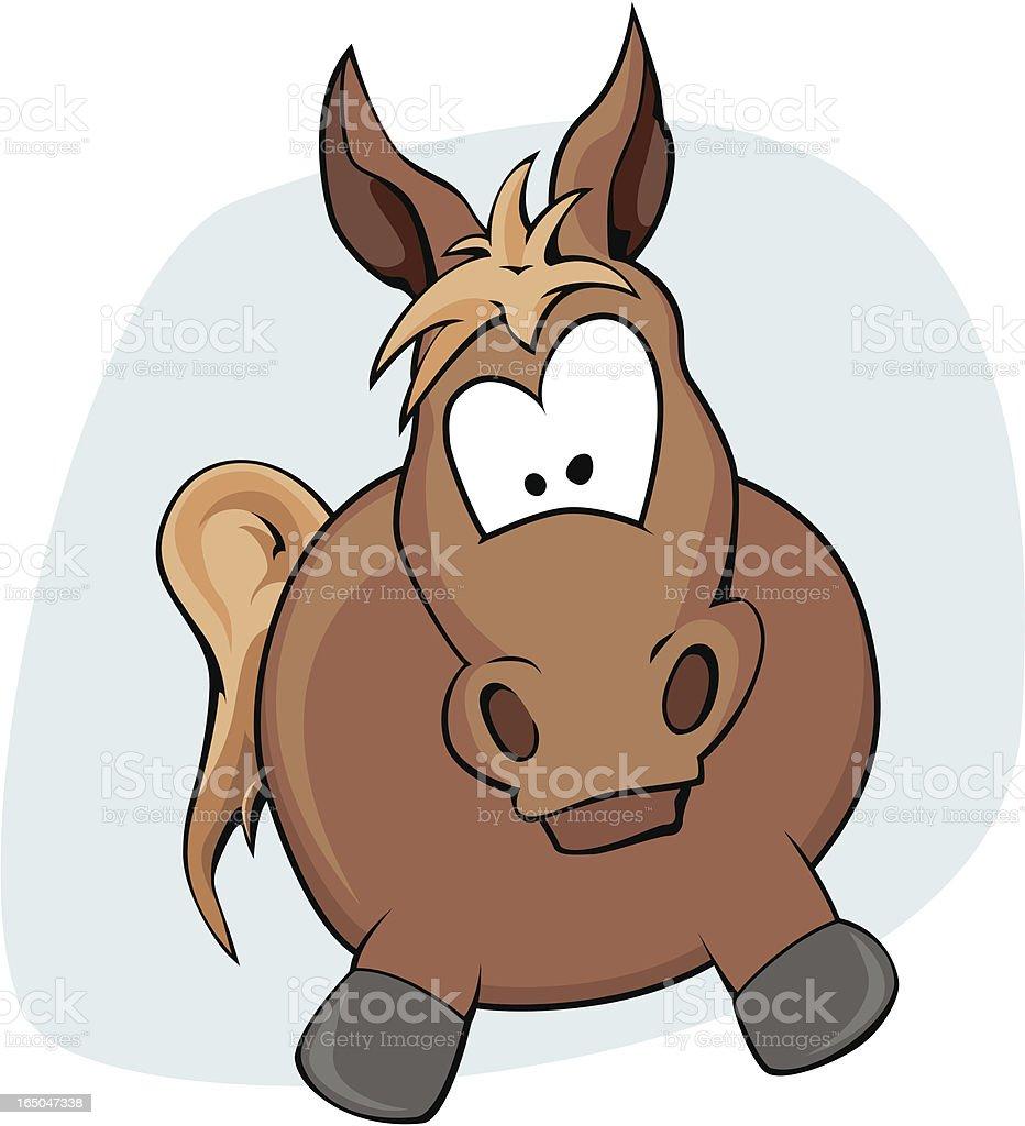 Goofy Horse Vector Illustration vector art illustration