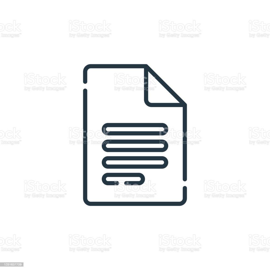 谷歌文檔向量圖示。谷歌文檔可編輯筆劃。google 文檔線性符號,用於 Web 和行動應用程式、徽標、列印媒體。細線插圖。向量隔離輪廓圖。 - 免版稅原木圖庫向量圖形