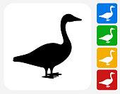 Goose Icon Flat Graphic Design