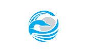 goose logo vector icon