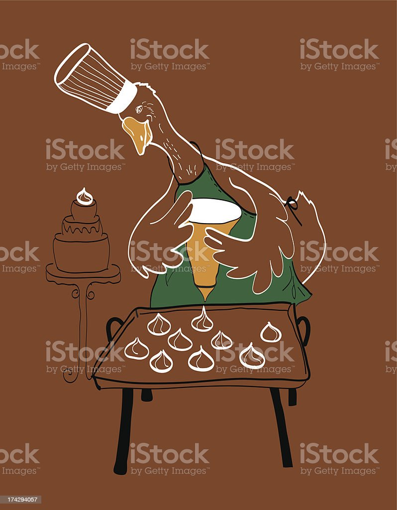 goose-confectioner royalty-free gooseconfectioner stock vector art & more images of baked pastry item