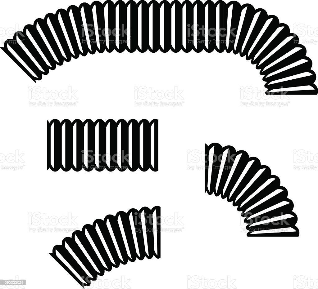 gooseneck flexible hose pipe vector art illustration