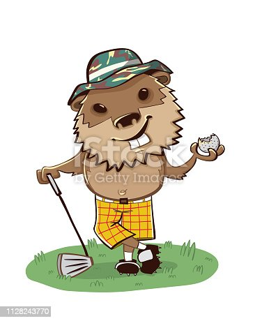 This is why you never golf with a gopher. He'll eat the ball and laugh about it! What a jerk.