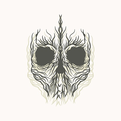 Gore Skull Tshirt Artwork Illustration