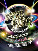 gorgeous disco party poster