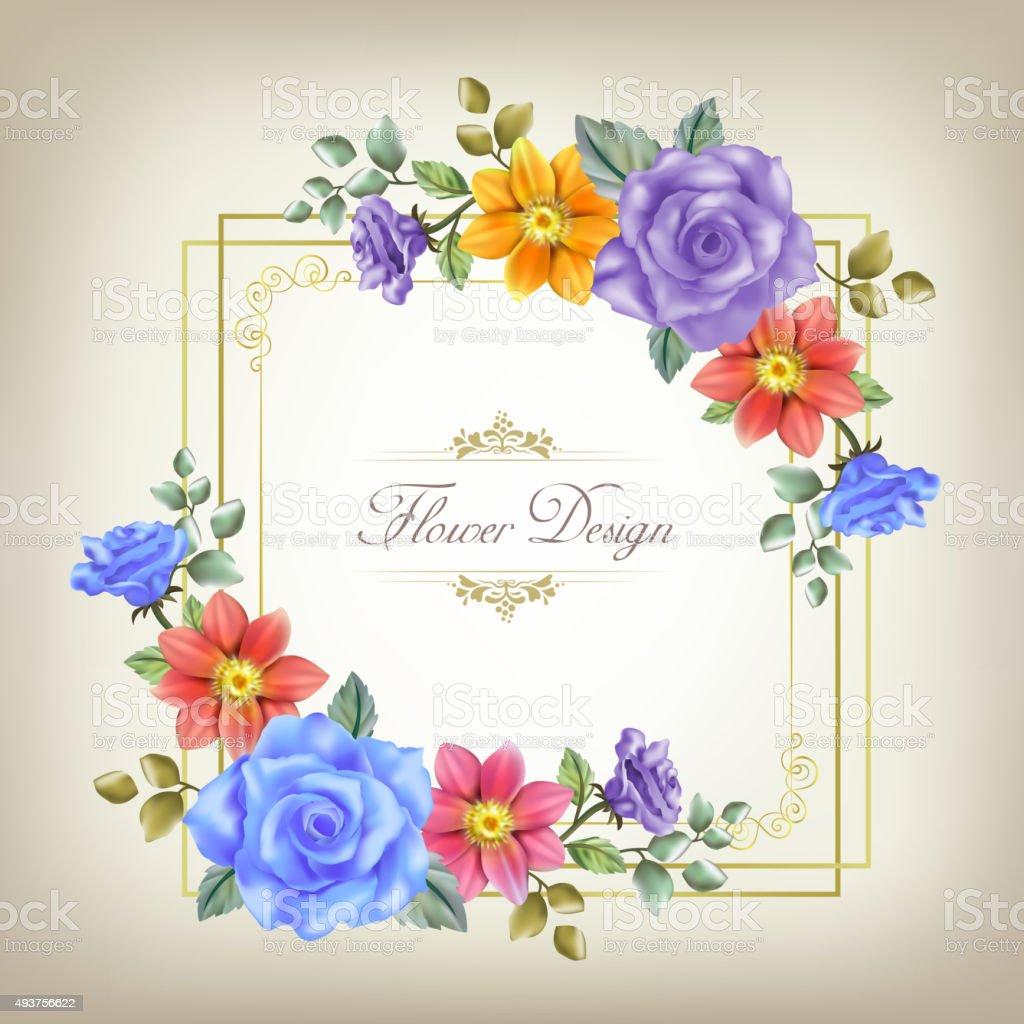 gorgeous floral cards design template vector art illustration