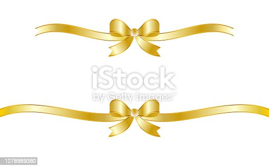 Gorgeous ribbon decoration frame with golden gradation