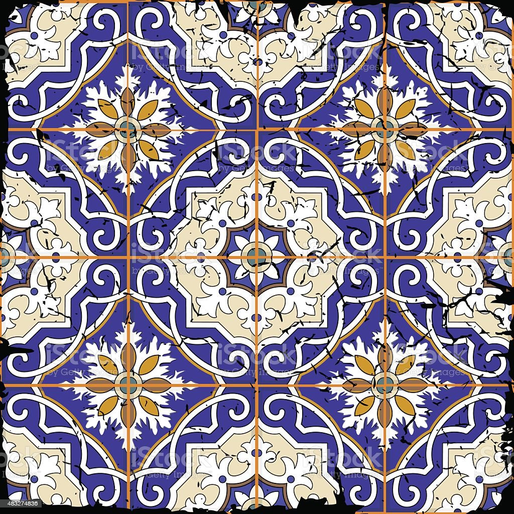 Gorgeous Seamless Patchwork Pattern From Grunge Moroccan