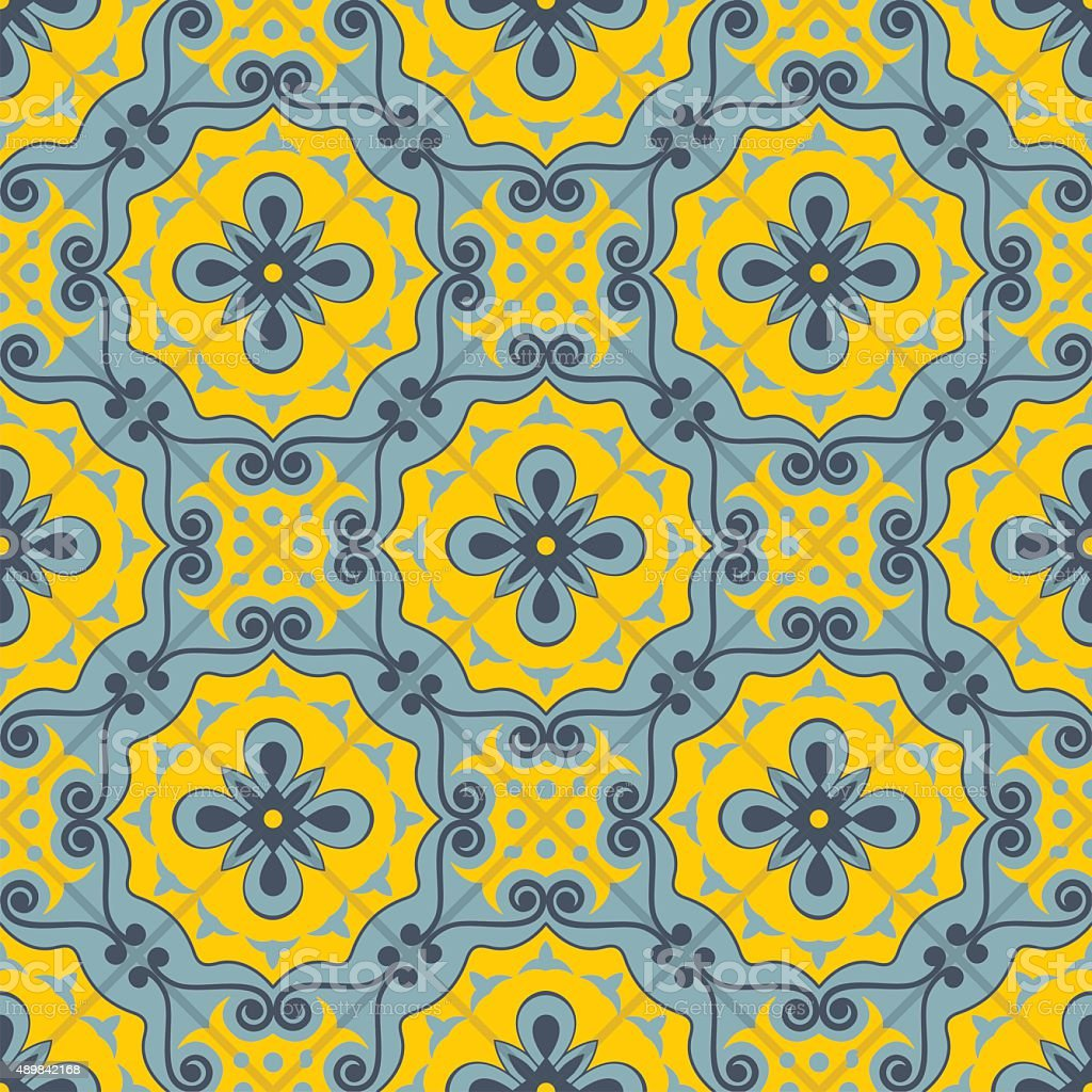 Gorgeous Seamless Patchwork Pattern Moroccan Tiles Ornaments Stock ...