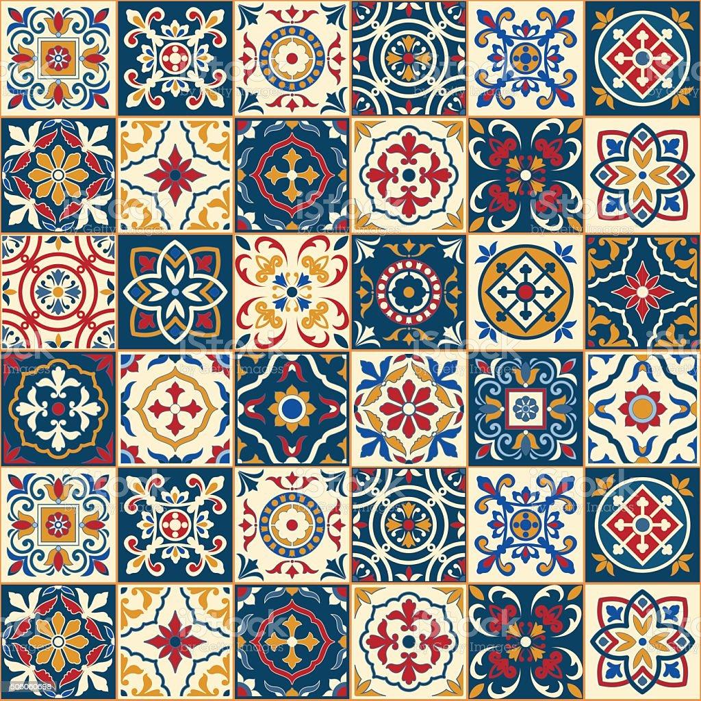 Belo sem costura padr o marroquina azulejos portugueses - Fliesen marokko ...