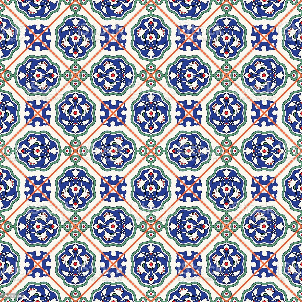 Wunderschöne Nahtlose Muster Weiß Türkische Ornamente Fliesen Stock - Fliesen auf türkisch