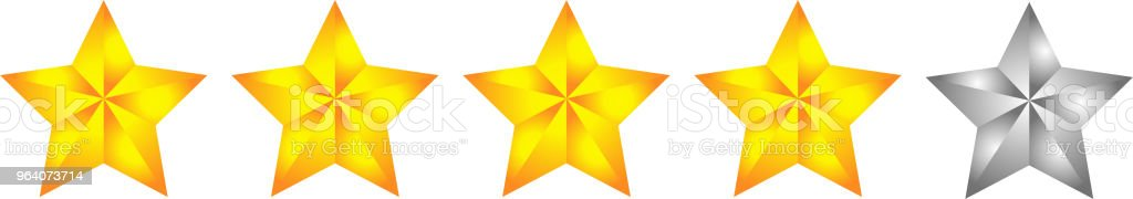 4 Gorgeous star rating bar - Royalty-free Abstract stock vector