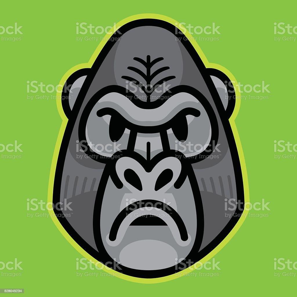 Ilustración de Gorila Y Ape Monos Cara y más banco de imágenes de ...